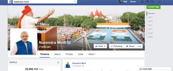 Narendramodi facebook